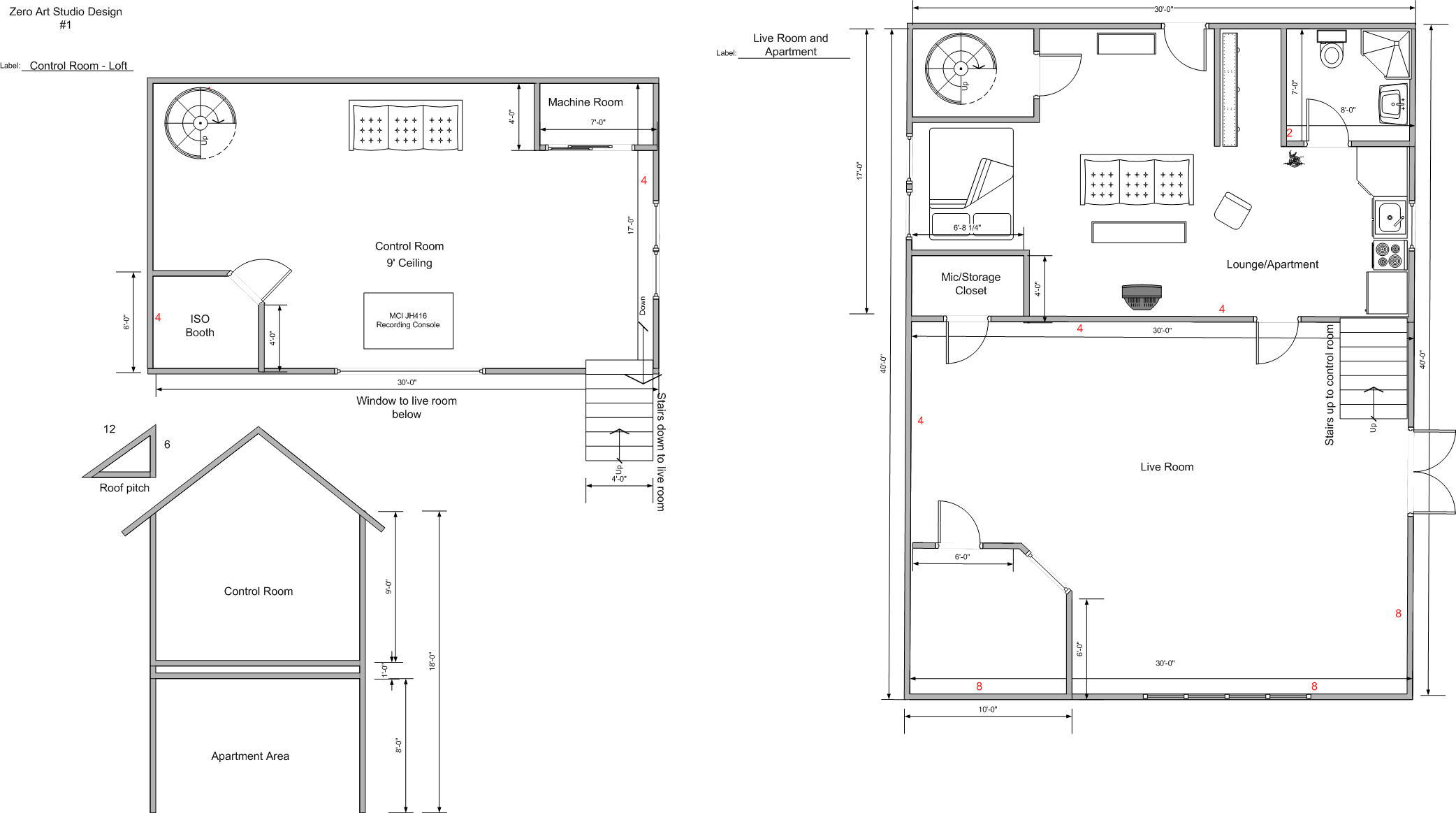 Zero art studio final floor plan tate eskew for Studio layout plan